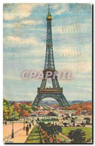 Old Postcard Paris Eiffel Tower while strolling