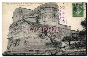 Old Postcard surroundings Royan Church of Talmont and the Breche Rebat
