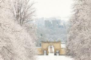 Ripon Cathedral in Golden Christmas Frost 2x Postcard s