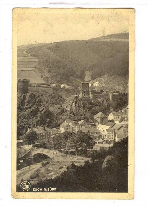 Bird's Eye View Of Esch S/Sure, Luxembourg, 1910-1920s