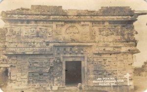 RPPC Las Monjas Ruinas CHICHEN ITZA Merida, Mexico c1940s Vintage Postcard