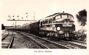 Eastleigh Hampshire UK~Royal Wessex Railway Engine~Valentine Real Photo Postcard