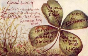 GOOD LUCK TO FIND THIS FOUR LEAF CLOVER - TO SEND FOR LUCK TO YOU 1909