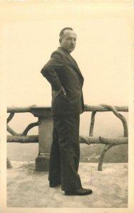Postcard elegant suit gentleman image