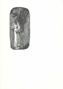 Artist signed graphic black and white Postcard holznicht von ernst Pferd girl