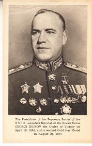 General Georgi Zhukov Marshall of the Soviet Union 1944