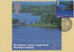 Ely Island Lower Lough Erne County Fermanagh Frank Limited Postmark Postcard
