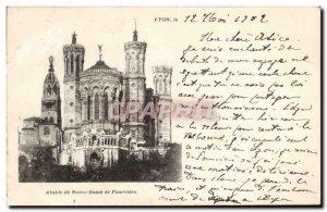 Old Postcard Lyon Apse Nd Fourviere