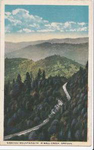 SISKIYOU MOUNTAINS FROM WALL CREEK, OREGON, unused Postcard