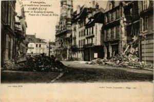 CPA AK COMPIEGNE apres le bombardement Place de l'Hotel-de-Ville (864986)