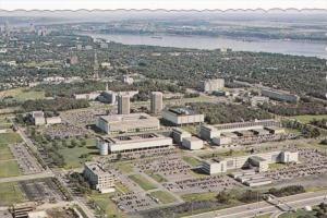 Aerial View, Laval University, STE. FOY, Quebec, Canada, 40-60's