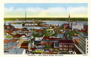 MA - Fairhaven. New Bedford Bridge & Harbor
