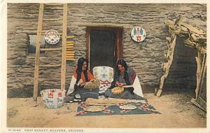 Hopi Indian Basket Weavers Arizona AZ White Border