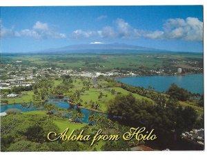 Aloha from Hilo Hawaii, Mauna Kea Tallest Peak in Hawaii Background 4 by 6