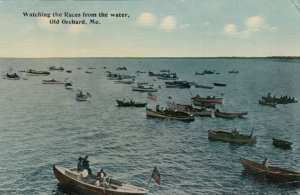 OLD ORCHARD BEACH , Maine , PU-1913 ; Watching the races from water
