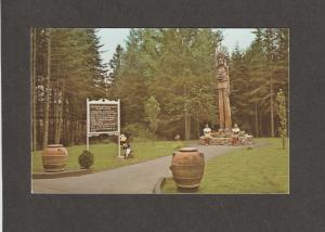 Cigar Store Wooden Indian Color Scenic Postcard New Hampshire