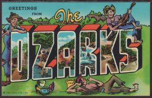 Greetings From the Ozarks Postcard BIN