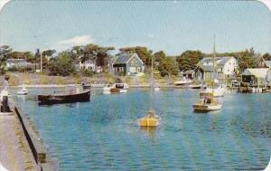 Harbor Scene Cape Cod Massachusetts 1953