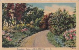 New York Greetings From MIddletown 1943