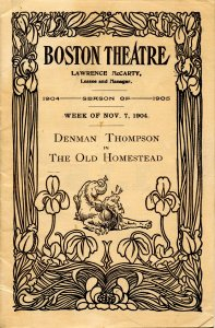 Boston Theatre Program, Week of Nov 7, 1904. (7.75 X 5) 28pp, more than 70 ads