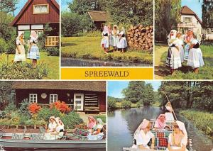 Spreewald Blota multiviews Traditional Costumes Boats River