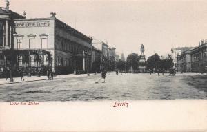 Unter Den Linden, Berlin, Germany, Early Postcard, Unused