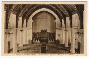 Mount Hermon, Mass, Interior of Memorial Chapel, Mount Hermon School