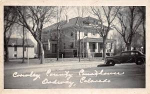 D31/ Ordway Colorado Co Photo RPPC Postcard c1930s Crowley County Court House