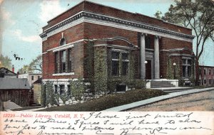 Public Library, Catskill, N.Y., postcard, used in 1907, So. Cairo, N.Y cancel