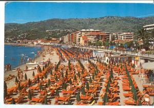 Italy, Andora, La Spiaggia, 1980s used Postcard