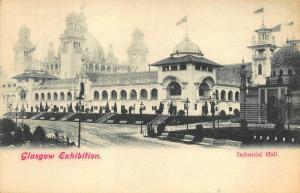 1901 Glasgow International Exhibition Industrial Hall Postcard
