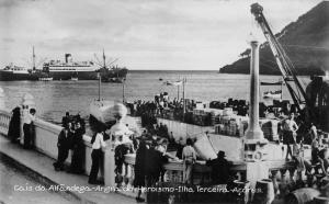 Angra do Heroismo Ilha Terceira Acores Customs Pier Real Photo Postcard J79758