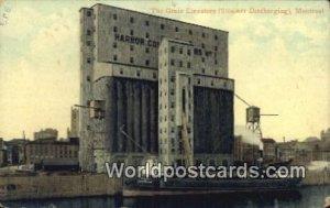 Grain Elevator, Steamer Discharging Montreal Canada 1908