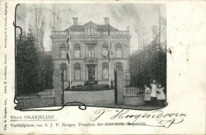 BOER WAR, Villa Oranjelust, Residence of President Kruger in Utrecht (1902)