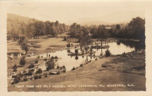 RP; NO. WOODSTOCK , N.H. , 1937 ; Golf Course & Trout Pond