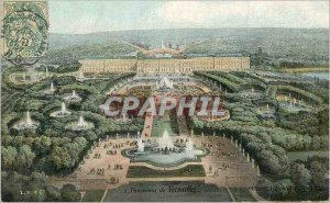 Old Postcard Panorama of Versailles