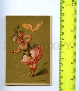 188993 FAIRY ROSE girl w/ butterfly Vintage card