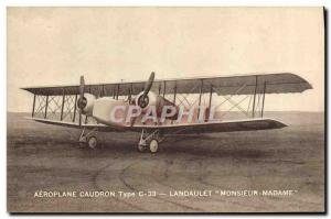 Old Postcard Jet Aviation Airplane Caudron Type C33 Landaulet Mr. Mrs.