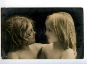 234169 Semi-Nude Friends GIRL Vintage PHOTO RPH postcard