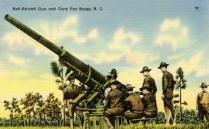 U.S. Military. Fort Bragg, NC. Anti-Aircraft Gun and Crew