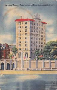 Lakeland Terrace Hotel on Lake Mirror, Lakeland Florida 1950