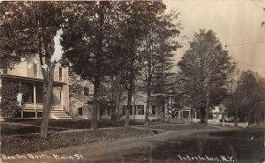 G45/ Interlaken New York RPPC Postcard 1919 North Main St Homes