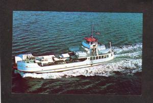 ME Everett Libby Ferry Boat Vinalhaven North Haven Islesboro Rockland Postcard