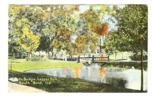 Rustic Bridge, Leeper Park, South Bend, Indiana, PU-1910