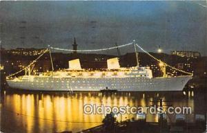 MS Gripsholm Swedish American Line Ship Postcard Post Card Swedish American L...