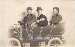 Postcard Three Men Unused