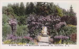 RP; A Rose Walk, The Butchart Gardens, NR. Victoria, British Columbia, Canada...