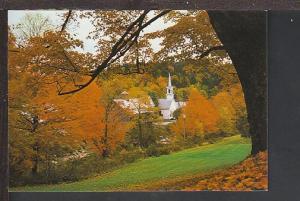 Autumn Scene West Dover VT Postcard BIN