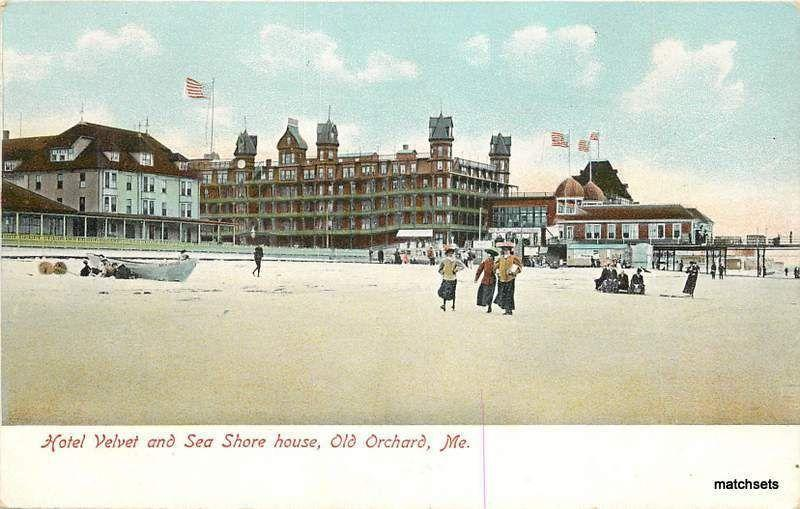 Circa 1905 OLD ORCHARD, MAUNE Hotel Velvet Sea Shore House postcard 3246
