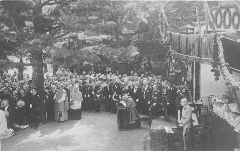 Real Photo Postcard Of Franz Joseph At Outdoor Religious Ceremony